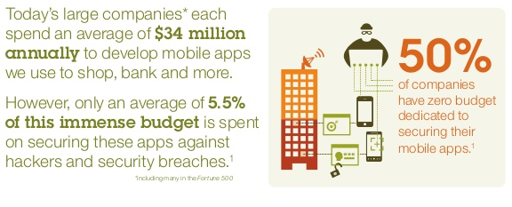 Budget for mobile app security