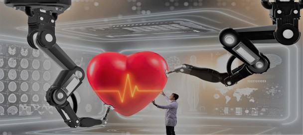 Heart surgery done by robotic arm