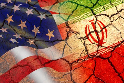 Concept of Conflict between USA and Iran war - US America and Ir