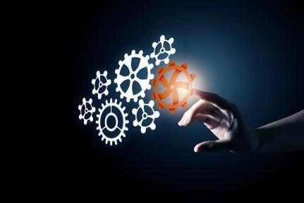 Cogwheel mechanism as teamwork concept